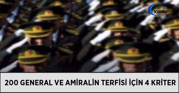 200 General Ve Amiralin Terfisi İçin 4 Kriter